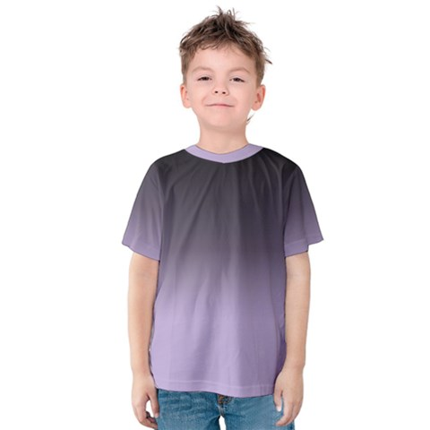 Crocus Petal To Black  Kids  Cotton Tee by TimelessFashion
