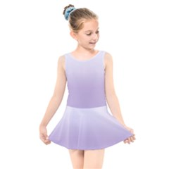 Crocus Petal To White  Kids  Skater Dress Swimsuit by TimelessFashion