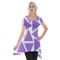 Crocus Petal Triangles  Short Sleeve Side Drop Tunic by TimelessFashion