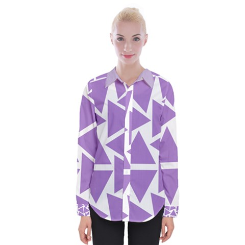 Crocus Petal Triangles  Womens Long Sleeve Shirt by TimelessFashion