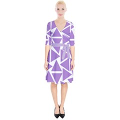 Crocus Petal Triangles  Wrap Up Cocktail Dress by TimelessFashion