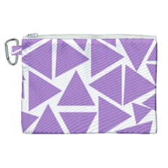 Crocus Petal Triangles  Canvas Cosmetic Bag (xl) by TimelessFashion