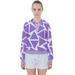 Crocus Petal Triangles  Women s Tie Up Sweat by TimelessFashion