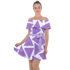 Crocus Petal Triangles  Off Shoulder Velour Dress by TimelessFashion