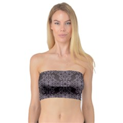 Timeless Black And Crocus Petal  Bandeau Top