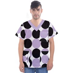 Dots Effect  Men s V Neck Scrub Top by TimelessFashion
