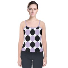 Dots Effect  Velvet Spaghetti Strap Top