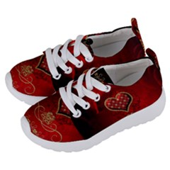 Wonderful Heart With Roses Kids  Lightweight Sports Shoes by FantasyWorld7