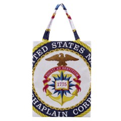 Seal Of United States Navy Chaplain Corps Classic Tote Bag