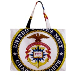 Seal Of United States Navy Chaplain Corps Zipper Mini Tote Bag