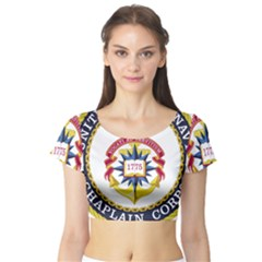 Seal Of United States Navy Chaplain Corps Short Sleeve Crop Top by abbeyz71