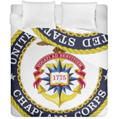 Seal Of United States Navy Chaplain Corps Duvet Cover Double Side (california King Size) by abbeyz71