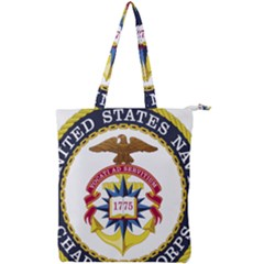 Seal Of United States Navy Chaplain Corps Double Zip Up Tote Bag