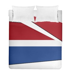 Royal Navy And Royal Netherlands Navy Church Pennant Duvet Cover Double Side (full/ Double Size)
