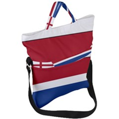 Royal Navy And Royal Netherlands Navy Church Pennant Fold Over Handle Tote Bag by abbeyz71