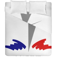 Logo Of French Navy Duvet Cover Double Side (california King Size)