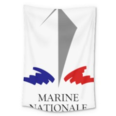 Logo Of French Navy Large Tapestry by abbeyz71