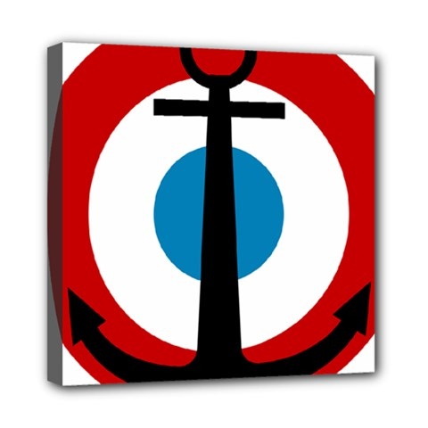 Roundel Of French Naval Aviation Mini Canvas 8  X 8  (stretched) by abbeyz71
