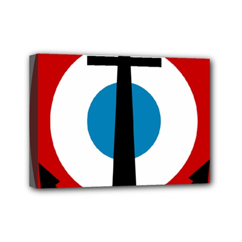Roundel Of French Naval Aviation Mini Canvas 7  X 5  (stretched)