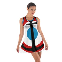 Roundel Of French Naval Aviation Cotton Racerback Dress by abbeyz71