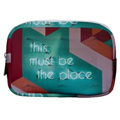This Must Be The Place    Make Up Pouch (small) by WensdaiAddamns