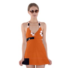 Flag Of Northern Territory Halter Dress Swimsuit