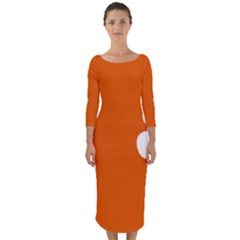 Flag Of Northern Territory Quarter Sleeve Midi Bodycon Dress