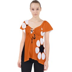 Flag Of Northern Territory Lace Front Dolly Top