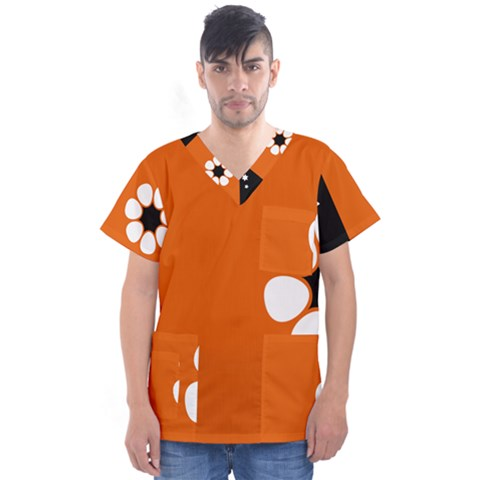 Flag Of Northern Territory Men s V-neck Scrub Top by abbeyz71