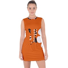 Flag Of Northern Territory Lace Up Front Bodycon Dress