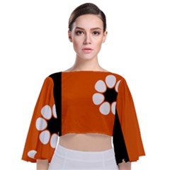 Flag Of Northern Territory Tie Back Butterfly Sleeve Chiffon Top