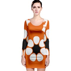 Flag Map Of Northern Territory Long Sleeve Bodycon Dress