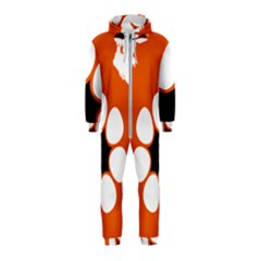 Flag Map Of Northern Territory Hooded Jumpsuit (kids)