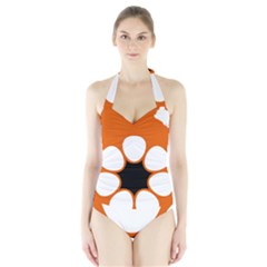 Flag Map Of Northern Territory Halter Swimsuit