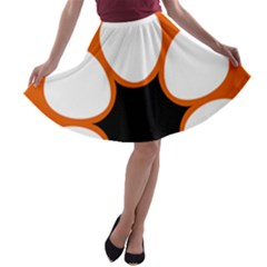 Flag Map Of Northern Territory A Line Skater Skirt