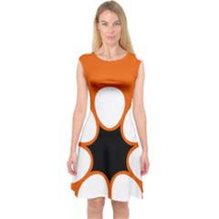 Flag Map Of Northern Territory Capsleeve Midi Dress