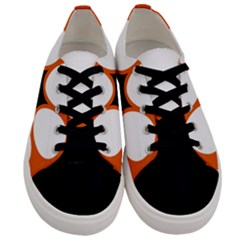 Flag Map Of Northern Territory Men s Low Top Canvas Sneakers