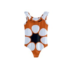 Flag Map Of Northern Territory Kids  Frill Swimsuit