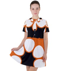 Flag Map Of Northern Territory Short Sleeve Shoulder Cut Out Dress