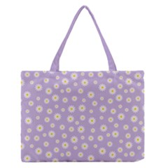 Field Of Daisies  Zipper Medium Tote Bag by TimelessFashion