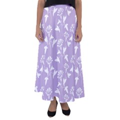 Floral In Crocus Petal  Flared Maxi Skirt by TimelessFashion