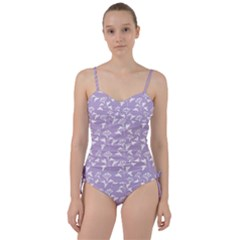 Floral In Crocus Petal  Sweetheart Tankini Set by TimelessFashion