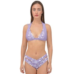 Floral In Crocus Petal  Double Strap Halter Bikini Set by TimelessFashion