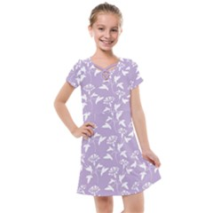 Floral In Crocus Petal  Kids  Cross Web Dress by TimelessFashion