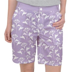 Floral In Crocus Petal  Pocket Shorts by TimelessFashion