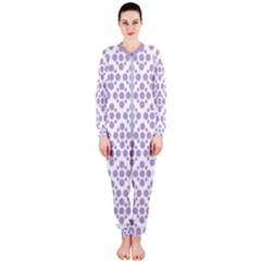 Floral Dot Series   Crocus Petal And White  Onepiece Jumpsuit (ladies)  by TimelessFashion