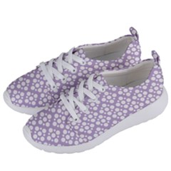 Floral Dot Series   White And Crocus Petal  Women s Lightweight Sports Shoes by TimelessFashion