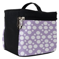 Floral Dot Series   White And Crocus Petal  Make Up Travel Bag (small) by TimelessFashion