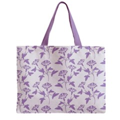Floral In Crocus Petal  Zipper Mini Tote Bag