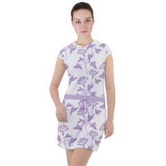 Floral In Crocus Petal  Drawstring Hooded Dress by TimelessFashion